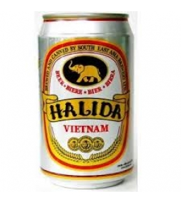 Bia lon Halida 330 ml